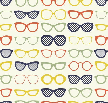 seamless eyeglasses illustration  Vectores