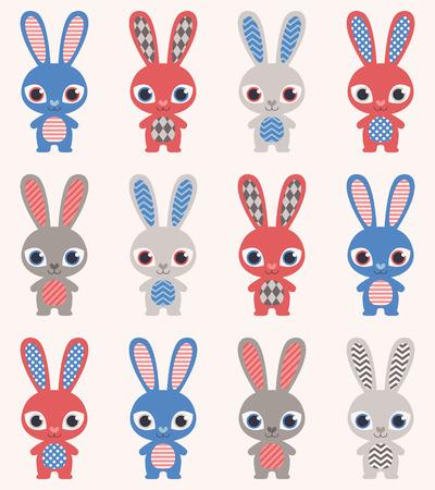 rabbit cartoon wallpaper Stock Vector - 30169692