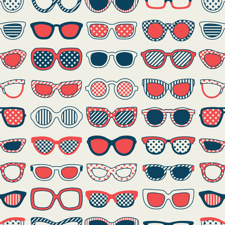 seamless fashion sunglasses pattern  Vector