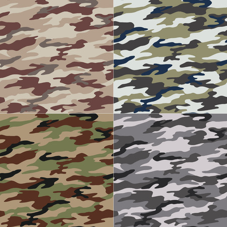 tileable: seamless camouflage pattern Illustration