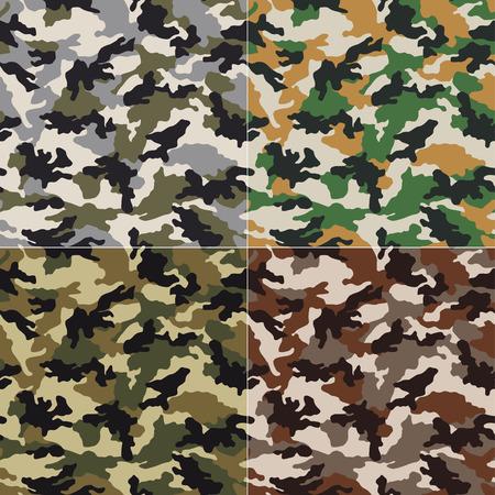 camouflage pattern: seamless camouflage pattern Illustration