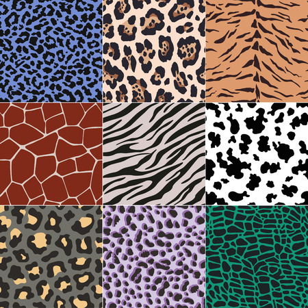 repeated animal skins print set Imagens - 33970347