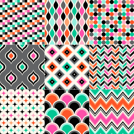 seamless vivid abstract geometric pattern