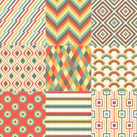seamless colorful abstract geometric pattern Vector