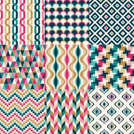 nahtlose bunte abstrakte geometrische Muster