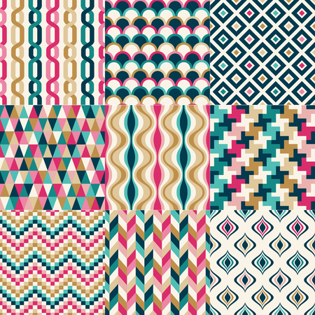 chevron seamless: seamless colorful abstract geometric pattern