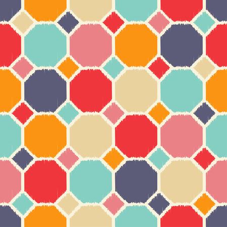 seamless geometric polygon pattern tiles Vector