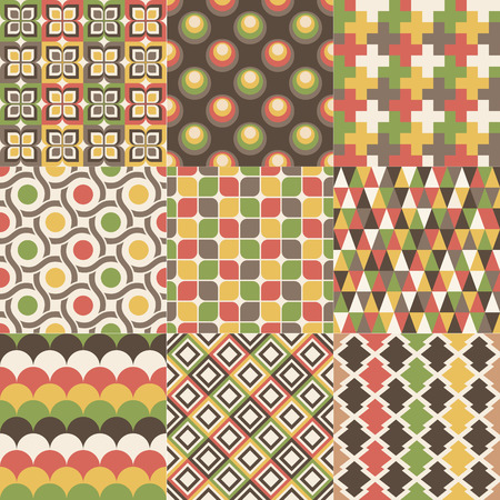 nostalgy: seamless retro geometric pattern design