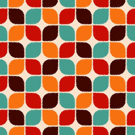 nostalgy: seamless retro geometric pattern