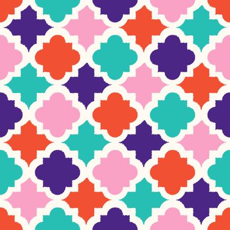 シームレスなカラフルな幾何学的なタイル パターン