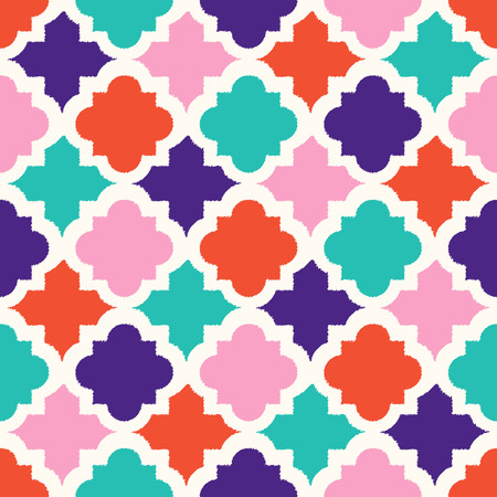 원활한 다채로운 기하학적 타일 패턴