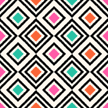 lozenge: seamless geometric colorful rhombus pattern
