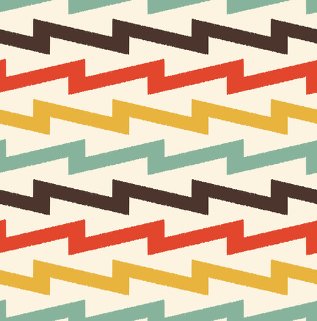nostalgy: seamless abstract zigzag pattern