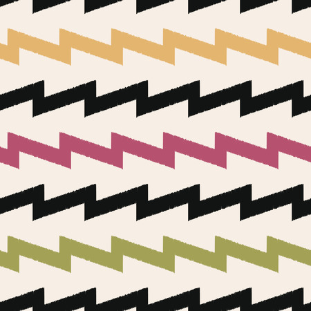 seamless zigzag fabric pattern Vector