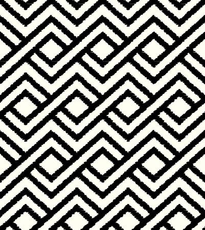 원활한 마름모 메쉬 흑백 패턴