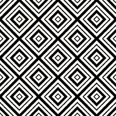 シームレスな菱形の黒と白のメッシュ パターン 写真素材 - 34915606