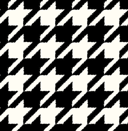 seamless black and white houndstooth checkered background