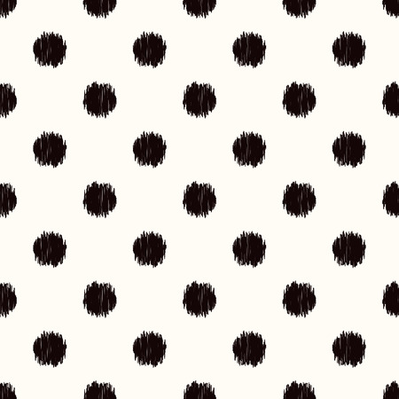 seamless black and white scribble dots texture background