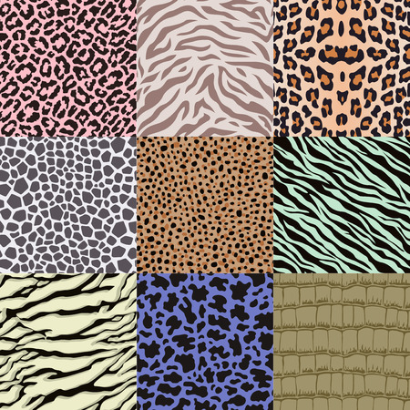 repeated: repeated wildlife animal skin pattern