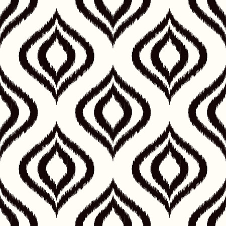 nostalgy: seamless black and white ornament pattern