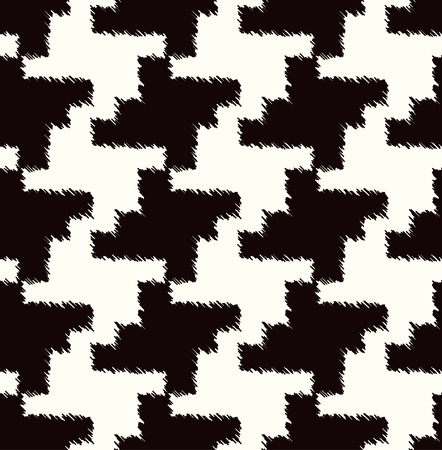 checkered background: seamless black and white houndstooth checkered background