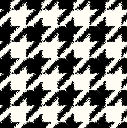 seamless black and white houndstooth checkered pattern