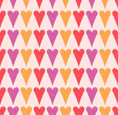 repeats: seamless heart scribble pattern