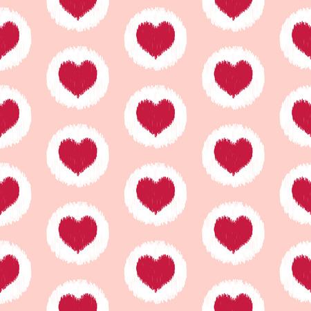 seamless heart scribble pattern Vector