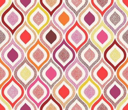 シームレスな落書きドット飾りパターン  イラスト・ベクター素材