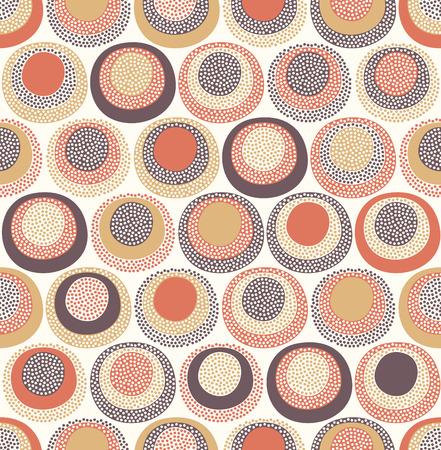 원활한 귀여운 낙서 도트 패턴 일러스트