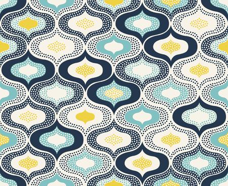 Naadloze abstracte ornament stippen doodle patroon