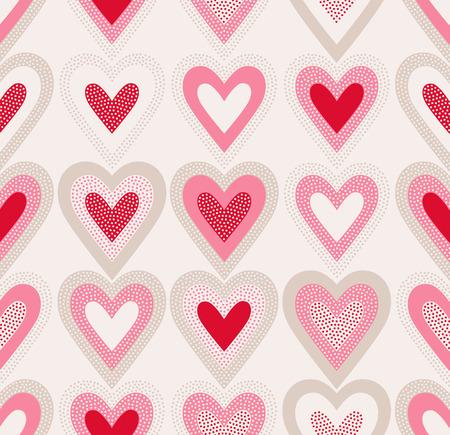 valentines: seamless dots texture heart pattern