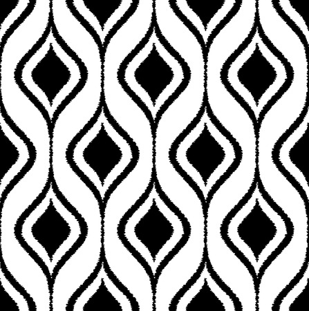 nostalgy: seamless abstract curve ornament scribble pattern