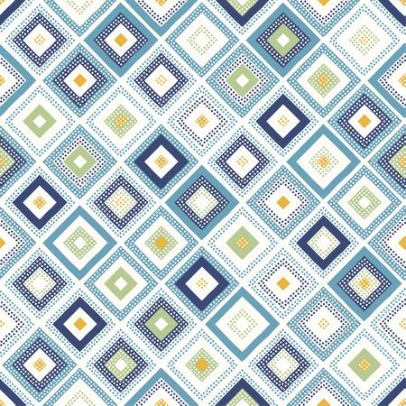 seamless dots doodle rhombus colorful pattern 일러스트