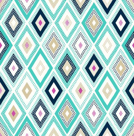 abstrakte muster: nahtlose Punkt-Gekritzel Raute bunte Muster