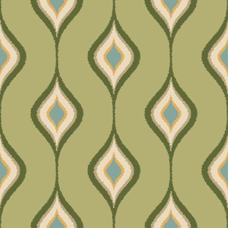 nostalgy: seamless green ornament scribble textile pattern