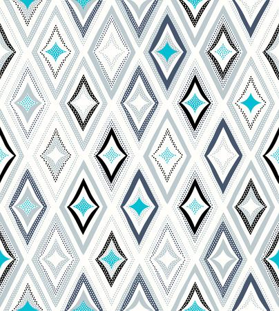 diamond texture: seamless rhombus doodle funny background Illustration