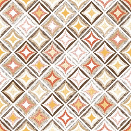 seamless rhombus doodle funny background Stock Illustratie