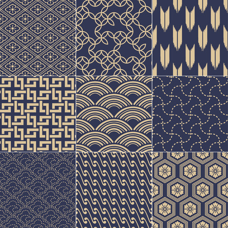 japanese background: seamless japanese mesh pattern