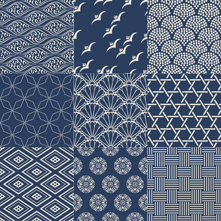 seamless japanese mesh pattern Vector