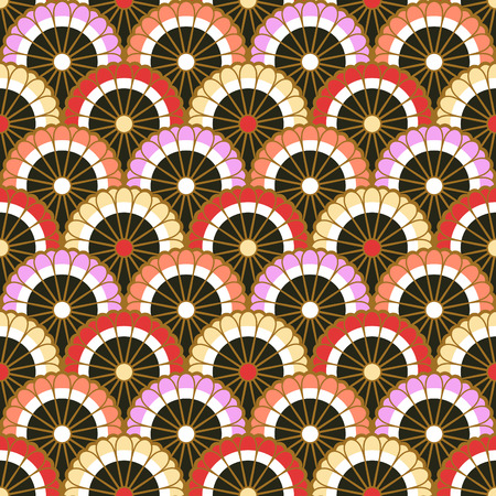 scallop: seamless japanese scallop floral pattern