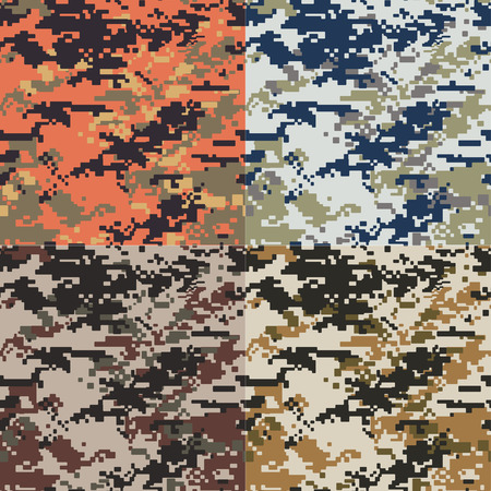 seamless camouflage pattern Ilustrace