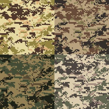 seamless camouflage pattern 일러스트