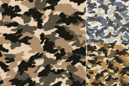 seamless camouflage pattern Stock Illustratie
