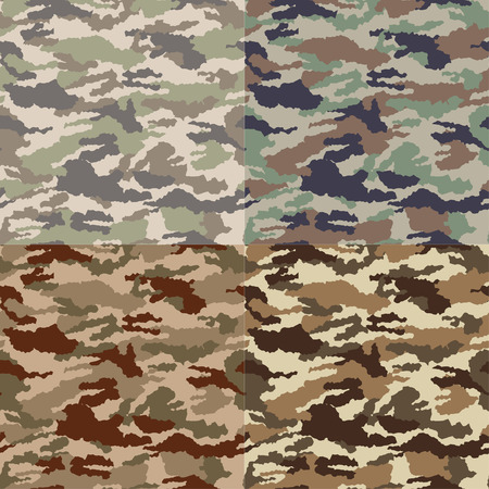 military uniform: seamless camouflage pattern Illustration