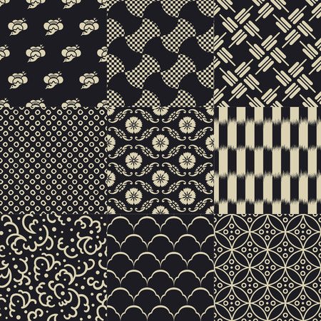 seamless japanese traditional mesh pattern Vectores