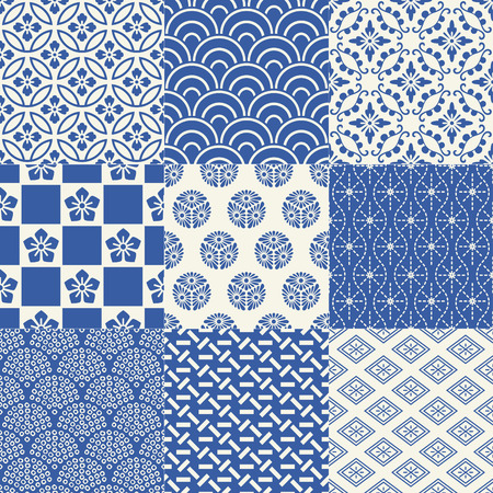seamless pattern de maille traditionnelle japonaise