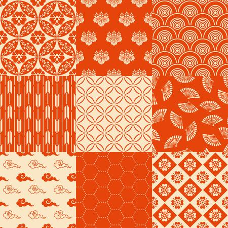 원활한 전통적인 일본 패턴 일러스트