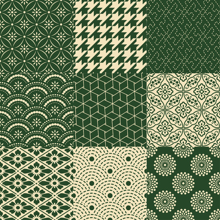 seamless traditional japanese pattern Vettoriali