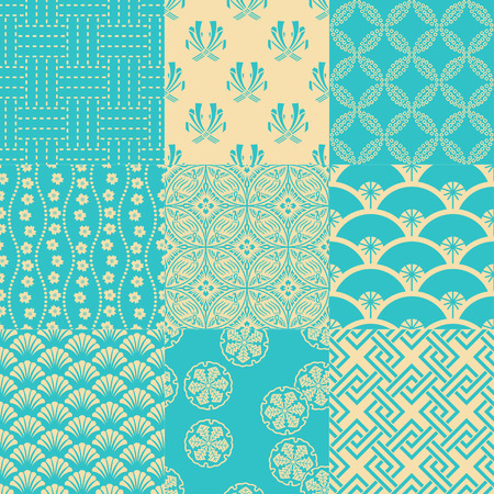seamless traditional japanese pattern Vectores